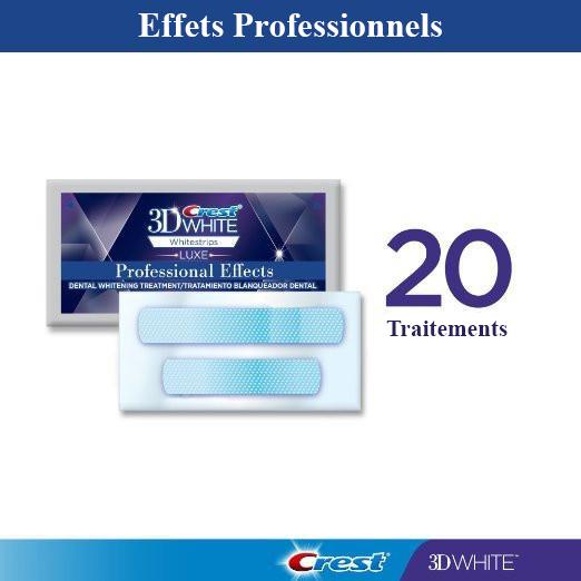 Effets professionnels Whitestrips - 20 sachets